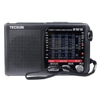 Tecsun R-1012 Radio FM / MW / SW / TV World Band Radio Receiver76-108MHz Radio Recorder - intl