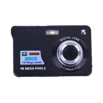กล้องดิจิตอลแอลซีดี TFT 18มกาพิกเซล 8 x ซูม (สีดำ) - Intl