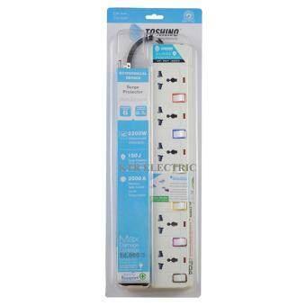 ราคา TOSHINO รางปลั๊กไฟ 6 ช่อง 6 สวิตช์ E-9165Y สาย VCT 3x0.75 ยาว 4.5 เมตร