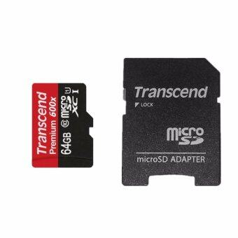Transcend Ultra 90MB/S Micro SD Card TF Satisfaction Guaranteed100% 64GB(สีแดง/สีดำ)(1 ชิ้น)