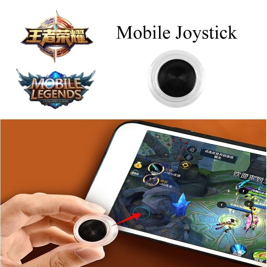 Tri Dynasties Mobile Joystick for Smartphone Gaming Fling Mini Joysticks Zero Any Touch Screen Joystick Perfect Mobile Game Controller For Android iPad iPhone iPod touch Tablet Arcade Games Mobile Legend,王者荣耀,Fifa & Etc - intl