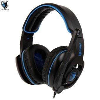 Tsunami SADES HAMMER SA-923 International Exclusive Edition 50mmSuper Bass 7.1 Surround Sound USB PC Gaming Headset with Mic (BLUE)Power By FunRepublic