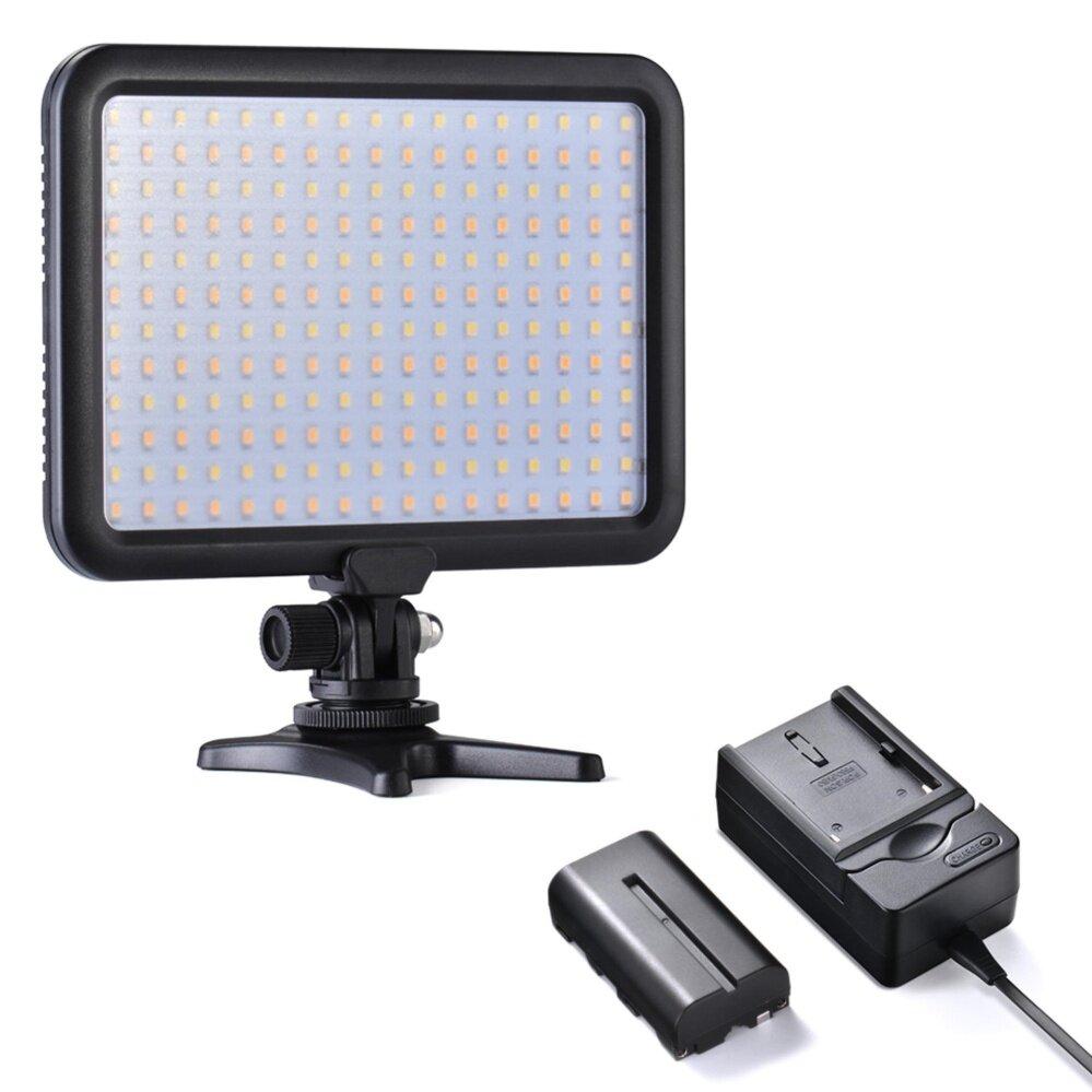 Tycka Portable204 ไฟ LED ไฟแฟลช 3200K ~ 5600K 1300lm บิวอินแบตเตอรี่ 2200mAh หรี่ความสว่างได้
