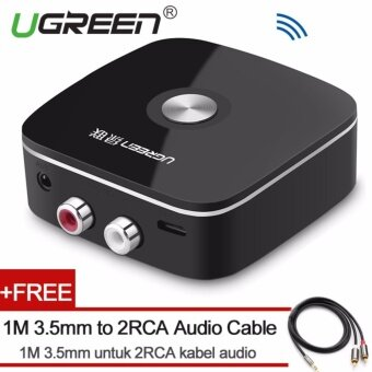 UGREEN Mini Bluetooh 4.1 Audio Receiver 2RCA Wireless Music Adapter with 3.5mm to 2RCA Audio Cable for Car Speaker - intl