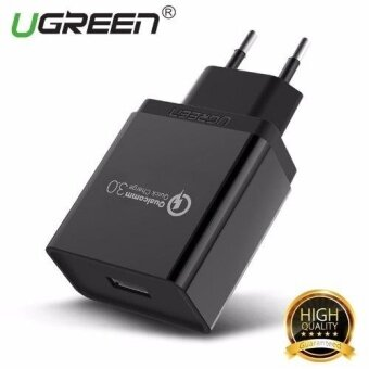 UGREEN Qualcomm Certified Quick Charge 3.0 18W USB Wall Charger Phone Charger EU Plug- Black - intl