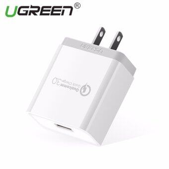 UGREEN Qualcomm Certified Quick Charge 3.0 18W USB Wall Charger Phone Fast Charger - White,US Plug - intl