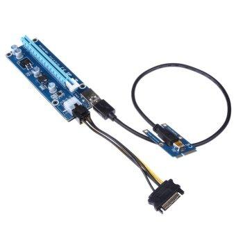 รีวิวพันทิป USB 3.0 PCI-E Express 1x to16x Extender Riser Card Adapter SATA6Pin Power - intl
