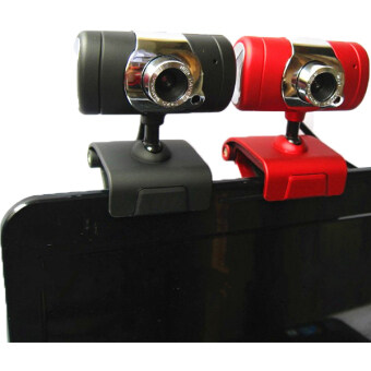 USB2.0 Clip-on Webcam Camera HD 2000 Megapixels Camera with MIC for Computer PC Laptop (Red) (image 3)