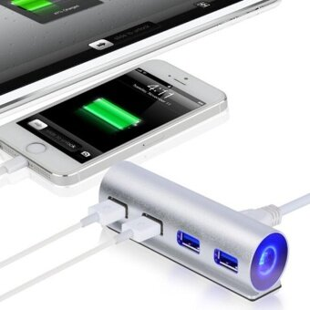 USB3.0 HUB 4 Ports Aluminum High Speed For Macbook Pro Mac PCLaptop - intl