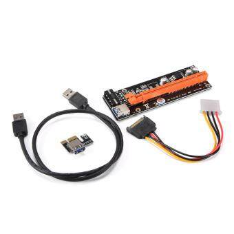 USB3.0 PCI-E Express 1x to 16x Extender Riser Card + SATA 4PinPower Cable