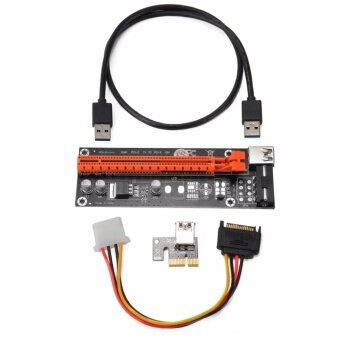 USB3.0 PCI-E Express 1x To 16x GPU Extender Riser Card AdapterPower Cable - intl