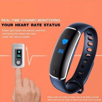 V8 Wristband Heart Rate Monitor Smart Watch Blood Pressure MonitorBluetooth Sports Reminder Smart Bracelet For IOS And Android - intl