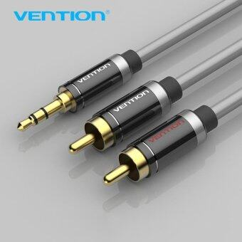 Vention 3.5mm Jack Male to Male 2RCA Audio Cable Alumium ShellDouble Shield Aux Cable - intl