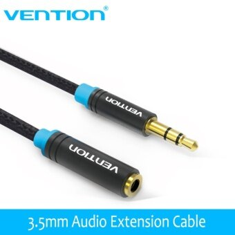 Harga Vention VAB-B06 2M Jack 3.5mm Male to Female Audio Cable HeadphoneAux Audio Extension Cable 3m 5m for Computer Headphone CellphoneDVD MP4 - intl