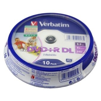 Verbatim DVD+R DL Printable 8.5 GB/240min 8X แผ่น DVD 9หน้าขาว(Pack 10)