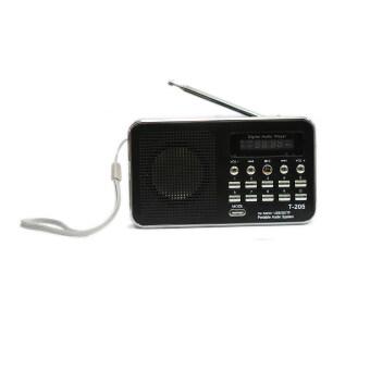 2561 Vgo IT ลำโพงวิทยุ ลำโพง Mp3 รุ่นT-205 (สีดำ)