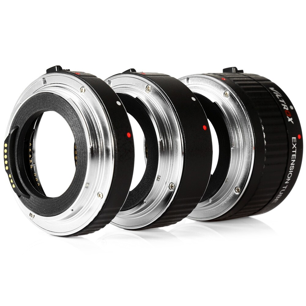 Viltrox DG - C 12MM 20MM 36MM AF Auto Focus Metal Mount Macro Extension Tube Set for Canon EOS Series Camera
