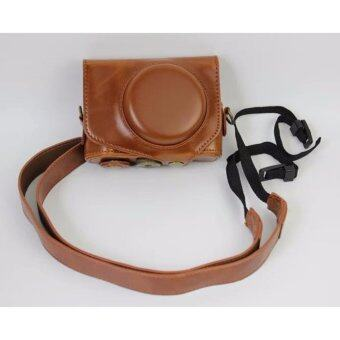 Harga Vintage Leather Camera Case for Canon powershot G7XII / G7 X II /G7X MarkII / G7 X Mark II Camera Bag Cover - intl