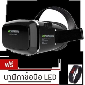 Harga VR SHINECON Virtual Reality Mobile Phone 3D Glasses 3D Movies GamesWith Resin Lens (Black)ฟรี นาฬิกา LED ระบบสัมผัส (คละสี)