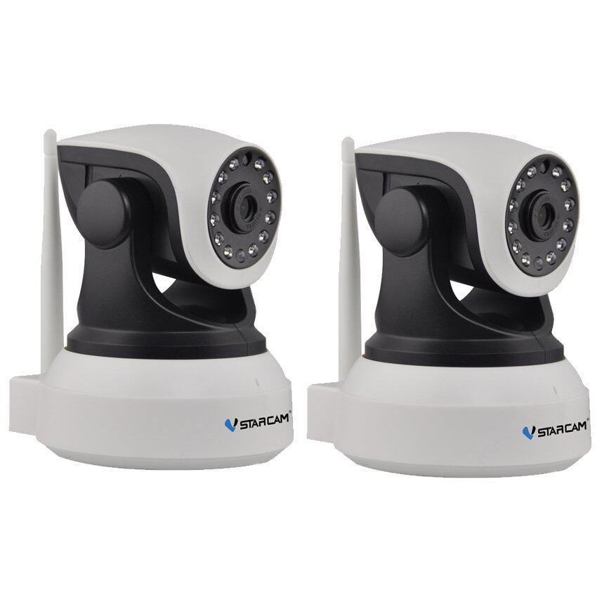 Vstarcam กล้องวงจรปิด IP Camera รุ่น C7824 1.0 Mp and IR Cut WIP HDONVIF - สีขาว/ดำ แพ็คคู่