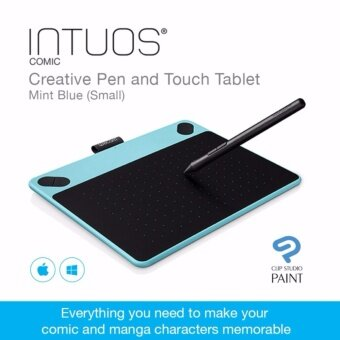 Harga Wacom Intuos Comic Creative Pen and Touch Tablet - Mint Blue (Small)