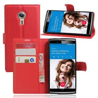 Wallet Flip Leather Case For Alcatel Flash 2/Alcatel OneTouch Flash2 (Red) - intl