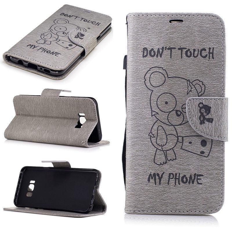 รายละเอียดของสินค้า Wallet Folio Wrist Strap Case for Samsung Galaxy S8 plus S8+ 2017 (Grey) – intl