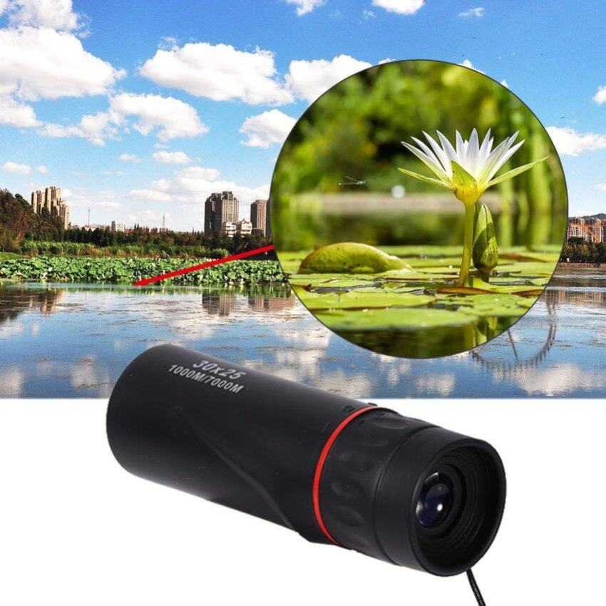 Waterproof Black 30 x 25 Optical Monocular Focus Telescope Zoomable10X Outdoor Scope - intl