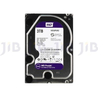 WD HDD - HARD DISK INTERNAL 3.0TB SATA-III 64 MB (WD30PURZ) PURPLE (H)
