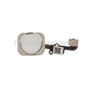 White Home Menu Button Key Flex Cable Assembly Replacement for iPhone 6S 182575094950 - intl