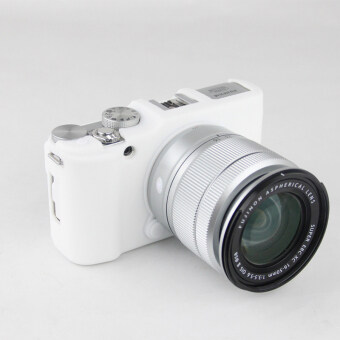 White Nice Soft Silicone Rubber Camera Protective Body Cover CaseSkin For FujiFilm Fuji X-M1 X-A1 X-A2 XM1 XA1 XA2 Camera Bag (Intl)- Intl