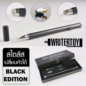 WRITERTOY ปากกา iPad ปากกา Stylus ปากกาสไตลัส เปลี่ยนหัวได้สำหรับเขียนไอแพด ไอโฟน และแท็บเล็ตทุกรุ่น รุ่น Hybrid silverversion 4.0 ชุด PRO classic black limited edition (สี classicblack)