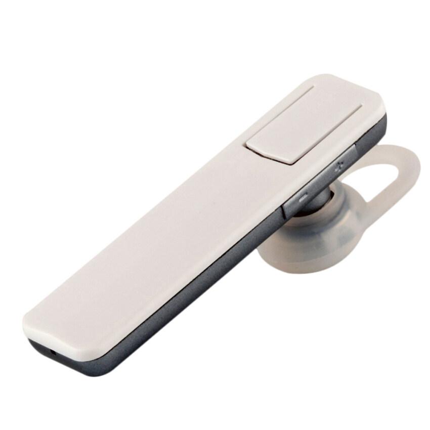X7 บลูทูธไร้สาย 4.1 รีโมทควบคุมเสียงกล้องแฮนด์ฟรีกีฬาหนึ่งในหูที่เกี่ยวหูหูฟังหูฟังสำหรับ iPhone 6 6S Plus 5 5S Samsung Galaxy S6 Note 5 Note 4 (ขาว)
