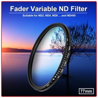 XCSource ฟิลเตอร์ 77mm Slim Fader  Variable ND Filter NeutralDensity Adjustable ND2 to ND400