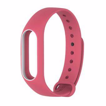 Xiaomi สายรัดข้อมือ Wristband Strap for Xiaomi Mi Band 2 (Pink White)