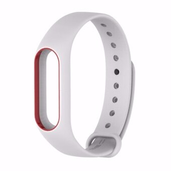 Xiaomi สายรัดข้อมือ Wristband Strap for Xiaomi Mi Band 2 (White Red)