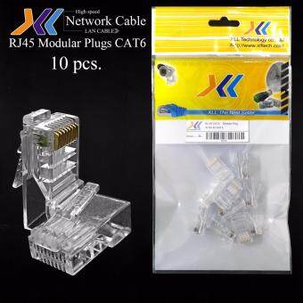 XLL RJ45 Modular plugs CAT6 10 pcs