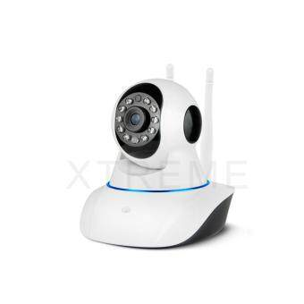 Xtreme P2P CCTV PTZ กล้องวงจรปิดไร้สาย IP Camera / Wifi / Lan Port / Day&Night / Infrared / อินฟราเรด / ความละเอียด1.3 ล้านพิกเซล / HD 960P / ติดตั้งด้วยระบบ Plug And Play / มีเสาสัญญาณ 2 เสา / สามารถจับภาพในที่มืด / มีไมโครโฟนและลำโพงในตัว (image 2)