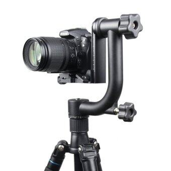 YELANGU Horizontal 360 Degree Gimbal Tripod Head For SLR CamerasAnd Home DV Camera(Black) - Intl