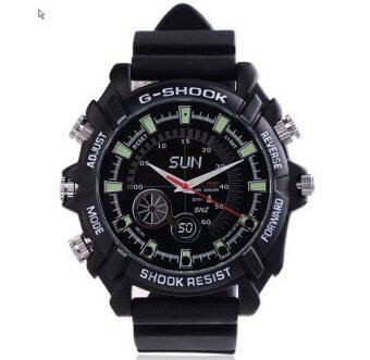 Zeed 16GB กล้องนาฬิกาข้อมือ รุ่น HD 1080P อินฟาเรด (สีดำ)