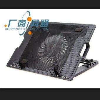 ZS NoteBook Stand & Cooling Padพัดลมระบายความร้อนโน๊ตบุ๊คปรับระดับได้ (สีดำ) รุ่นLXN25