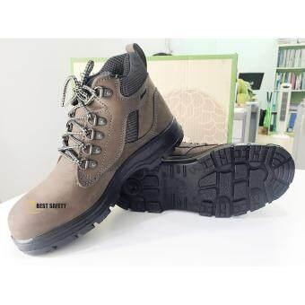 รองเท้าเซฟตี้ หุ้มข้อ รุ่น 0283U พื้น PU หนังแท้ เบอร์ 7UK, 41EU - 3