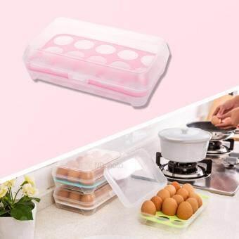 กล่องพลาสติกใส่ไข่ กล่องใส่ของเอนกประสงค์ สีชมพู 1 ชิ้น