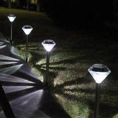 ไฟปักสนามโซล่าเซลล์ 1 LED เเสง : ขาว