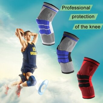 1 Pc Breathable Sweat Absorb Outdoor Safety Knee Pads Calf SupportKneepad(Black&Red) - intl