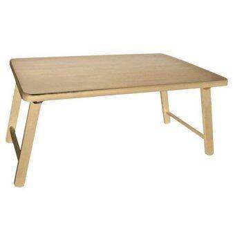 ประกาศขาย โต๊ะวางโน๊ตบุ๊ค ไม้ยางพารา 100% ขนาด 60 x 40x 26 ซม. (สีธรรมชาติ)