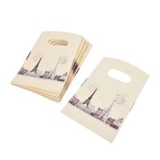100pcs Pink Eiffel Tower Reusable Storage Friendly Shopping Bag Grocery Bags Tote - intl