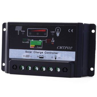 เครื่องควบคุมประจุ 10A 12V/24V PWM Solar Panel Battery RegulatorCharger Controller