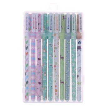10PCS Cute Little Korean Stationery Watercolor Pen Gel Pens SetColor 2