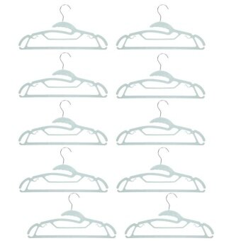 10pcs Stainless Steel Plastic Hanger for Clothes Towel Antiskid